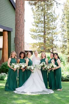 This fly-fishing themed wedding is the perfect catch! 🎣 With the help of @audereevents, the day was not only personalized but also extremely elegant with a classic aesthetic to complement the incredible mountain venue. | LBB Photography: @larissaclevelandphoto #stylemepretty #greenwedding #rusticwedding Bridesmaid Dress Styles, Wedding Dresses, Bridesmaids, Wedding Album, Wedding Photos, Bride Bouquets, Bouquet Flowers, Wedding Photography Tips, Green Wedding