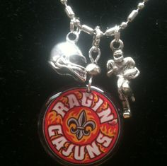 Licensed Collegiate Stack 'Em Necklace  by AnnPedenJewelry on Etsy, $12.99