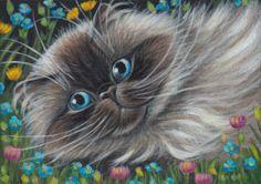 Himalayan Persian Cat Painting