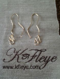 Kfleye metal thread gold-filled earrings