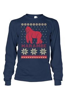 All I Want For Christmas Is Harambe Christmas Sweater | Ugliest ...