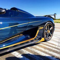 Koenigsegg Agera RS 'Naraya' – Tinted Blue Carbon and Gold