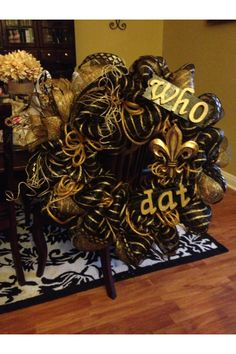 Next project -- saints wreath for football season!