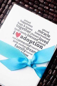 Adoption Cards. Brilliant! #adoption