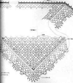 crochet shawl for grandmother Crochet Wrap Pattern, Crochet Diagram, Crochet Chart, Crochet Lace, Crochet Patterns, Crochet Shawls And Wraps, Crochet Scarves, Crochet Clothes, Shawl Patterns