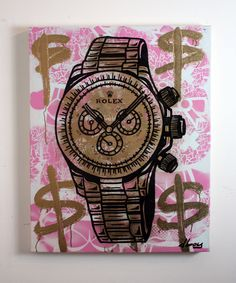 Original #dillon boy #painting rolex #watch art richie rich money alec monopoly $, View more on the LINK: http://www.zeppy.io/product/gb/2/191923022499/