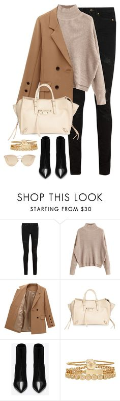 """""""Untitled #4558"""" by magsmccray ❤ liked on Polyvore featuring Yves Saint Laurent, Balenciaga, Treasure & Bond and Christian Dior"""