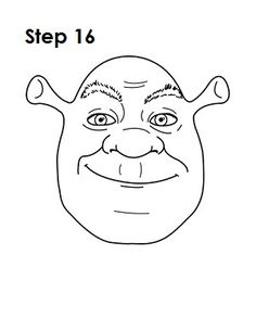 Learn how to draw Shrek with this step-by-step tutorial and video. A new cartoon drawing tutorial is uploaded every week, so stay tooned! Disney Drawings, Cartoon Drawings, Easy Drawings, Line Sketch, Line Drawing, Shrek Drawing, Shrek E Fiona, Shrek Cake, Punk Disney Princesses