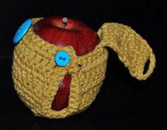 Made to Order Buttoned Apple Cozy by regiftstore on Etsy, $4.25