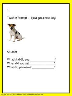 """""""WH"""" QUESTION PROMPTS: TO ELICIT ASKING """"WH"""" QUESTIONS - TeachersPayTeachers.com"""