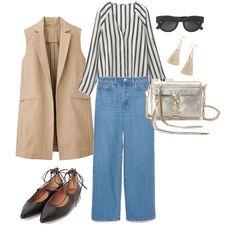 denim pants  gillet laceupshores 2016SS fashion outfits