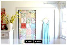 Front closet cover panel idea