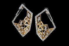 KAVANT & SHARART Diamond Earrings Origami art collection www.kavantandsharart.com
