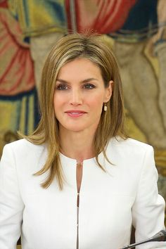 Queen Letizia of Spain attends a Meeting of the Council of the Royal Board on Disability at Palacio de la Zarzuela on 09.09.2014 in Madrid