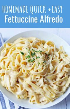Fettuccine Alfredo Recipe Homemade alfredo sauce made from scratch using heavy cream butter parmesan cheese and a touch of garlic The BEST Fettuccine Alfredo Recipe fettccinealfredo pasta
