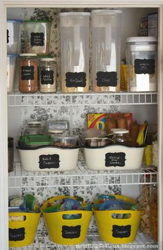 Kitchen DIY organize! I think I saw these labels at Menard's or Target or something. Time to investigate.