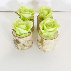 Excited to share this item from my shop: Set of 4 Real touch silk roses in real wood holders arrangement,centerpiece, flower arrangement/ home decor Water Centerpieces, Branch Centerpieces, Gerber Daisies, Silk Roses, Green Rose, Calla Lily, Ceramic Vase, Real Wood, New Kitchen