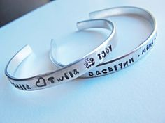 Hand Stamped Jewelry  personalized cuff bracelet