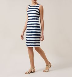 Summery nautical yet smart feel - can be worn with courts or more causal with sandals, espadrilles, or even pumps.