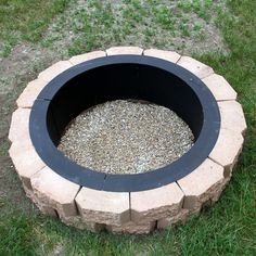 MAKE YOUR OWN STEEL FIRE PIT RIM IN GROUND LINER BUILD YOUR OWN OUTDOOR FIREPIT #Sunnydaze