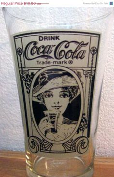 *COCA-COLA ~ collectable glass 1970's. I have these glasses!