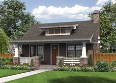Bungalow with Guest Bed - 69623AM | Bungalow, Cottage, Craftsman, Northwest, 1st Floor Master Suite | Architectural Designs