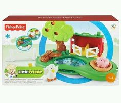 PIG PEN AND POND Fisher Price Little People Village Playset Duck Farm Animals