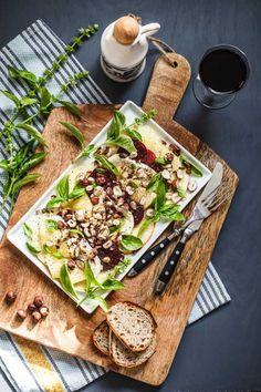 red beet-pineapple caprese salad