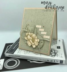 Sympathy Cards, Paper Cards, Flower Cards, Creative Cards, Your Cards, Cards Diy, Homemade Cards, Stampin Up Cards, Cardmaking
