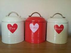 Image Result For Red Tea Coffee Sugar Canisters
