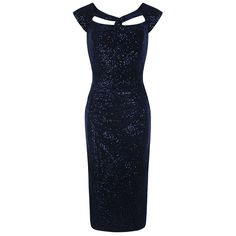 Navy Sequin Party Wiggle Dress – Pretty Kitty Fashion