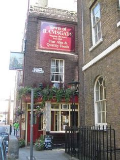 "Town of Ramsgate: ""Inside, the narrow bar was packed. The Town did a brisk trade from all those who worked on the river. As it was Saturday, those men paid at the end of the week stopped in at any one of the hundreds of public houses in the area for a swift pint before the more reliable headed for home to give their wives the weekly housekeeping."