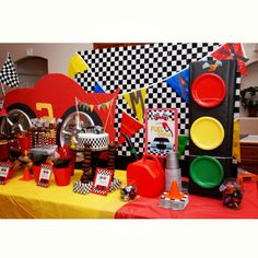 Car theme birthday party.