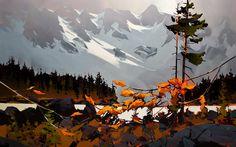 Michael O'Toole Archive Watercolor Landscape, Landscape Art, Landscape Paintings, Watercolor Art, Landscapes, Canadian Painters, Canadian Artists, Autumn Scenes, Landscape Concept