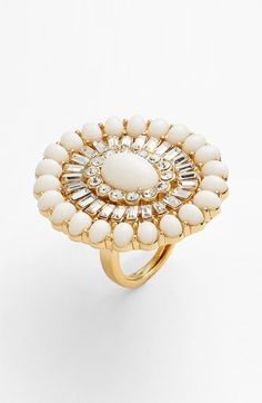 kate spade new york 'capri garden' oval stone cocktail ring available at #Nordstrom