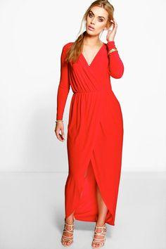 f7d1c56348 Plus Zoe Slinky Wrap Front Maxi Dressalternative image Wrap Around Dress