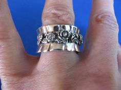 SALE Vintage sterling silver ruffled roses by BonniesGreatFinds, $38.00