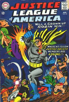 Justice League Of America #55, August 1967, cover by Mike Sekowsky and Murphy Anderson