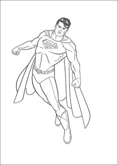 Print Powerful Superman Coloring Page170e Pages See More Dibujos Para Colorear 20