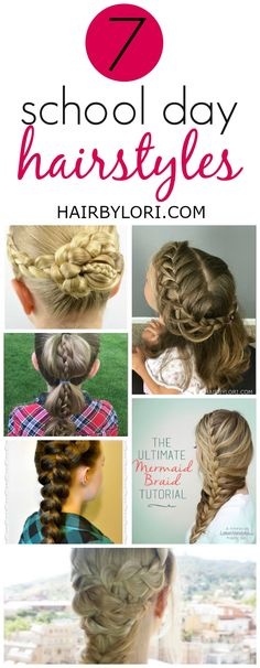 Super Frisuren fr Schulmorgen Tchter Ideen - hairstyle for school - Easy Hairstyles For Medium Hair, Mom Hairstyles, Easy Hairstyles For Long Hair, Little Girl Hairstyles, Trendy Hairstyles, Pinterest Hairstyles, Children Hairstyles, Step Hairstyle, Hairstyle Tutorials