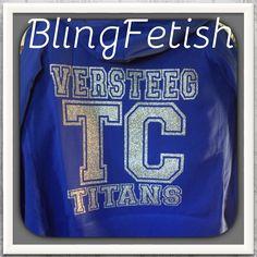 Glitter vinyl on a hoodie jacket.  #tchs #blingfetish