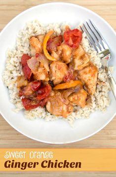 Freezer Friendly Sweet Orange Ginger Chicken Recipe from 5DollarDinners.com