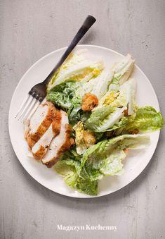 salatka Cezara z kurczakiem Ramen, Grilling, Good Food, Salad, Chicken, Cooking, Breakfast, Ethnic Recipes, Dinners