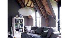 lampadaire arqué asiatique haut plafond canapé
