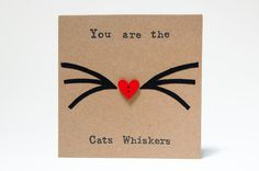 Cat Birthday Card Cat Best Friend Cat Lover Gift by NannySayers