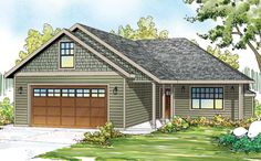 Ranch Style House Plan - 3 Beds 2 Baths 1369 Sq/Ft Plan #124-879