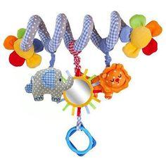 Oferta: 9.99€ Dto: -50%. Comprar Ofertas de Leorx Espiral, juguete, silla, cama colgante juguetes, juguete del bebé de asiento de coche con espejo y campana barato. ¡Mira las ofertas!