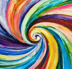 Sale Original Spiral Art painting huge Impasto by elsestudio