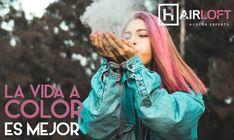 Elige de que color quieres tu vida.  Las mejores tendencias en #ColorBar. #HairLoft Dreadlocks, Color, Hair Styles, Beauty, Trends, Elegant, Life, Hair Plait Styles, Colour