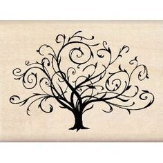 Beautiful scrolling family tree design for heritage page embellishment.